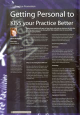 Getting personal to kiss your practice better